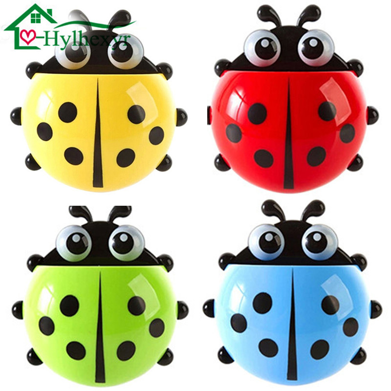 1 pc Creative Ladybug Suction Hook Holder Holder Toothbrush Holder Bathroom Accessories Toiletry Toothbrush Toothbrush Container image