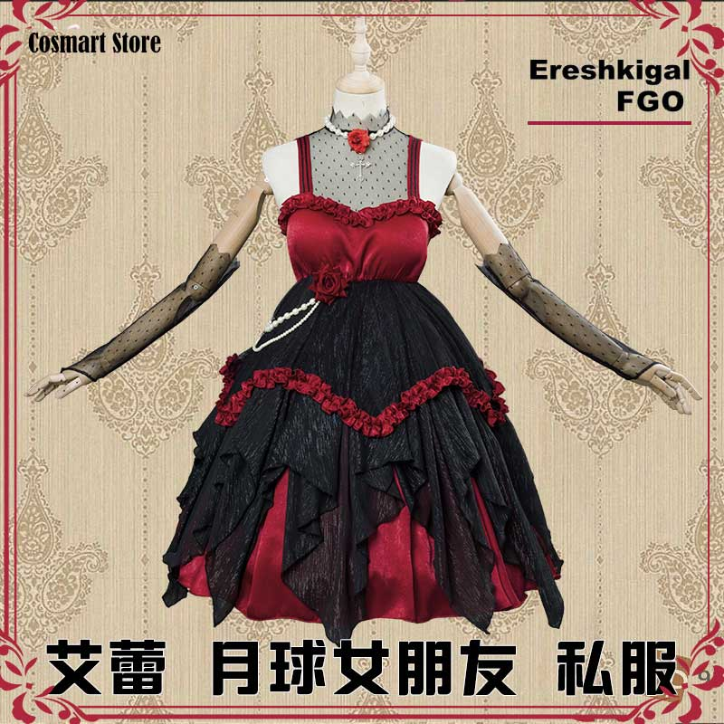 [Late Apr. stoc]Anime Fate Grand Order FGO Ereshkigal Cosplay Costume Moon Girlfriend Ereshkigal Lolita Dress Halloween Costume
