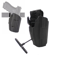 Right hand Waist Pistol Holster for Glock Tactical Advanced Universal Outdoor Hunting Quick Pull Waist Belt tactical quick release automatic loading and locking waist thigh holster for glock