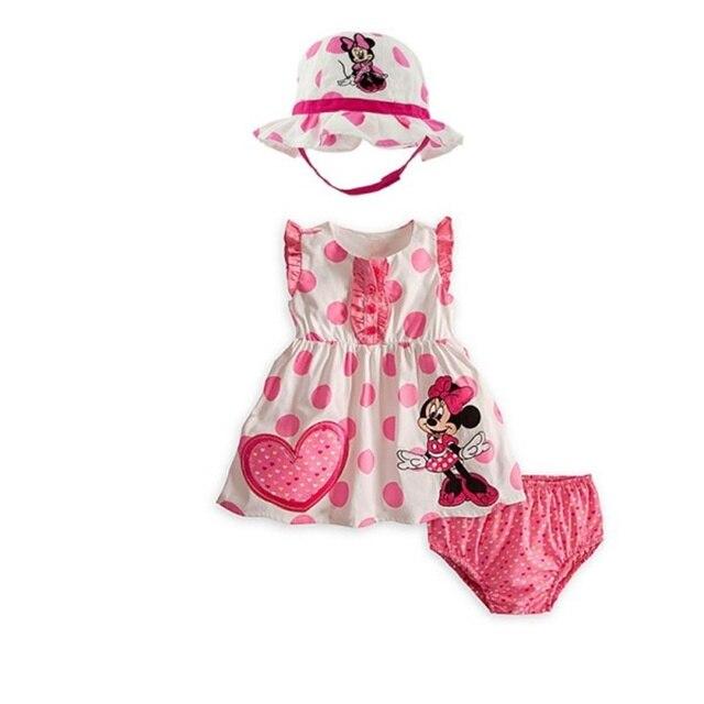 Nueva Baby Girl Conjuntos de Color Rosa Minnie Mouse + Pan ...
