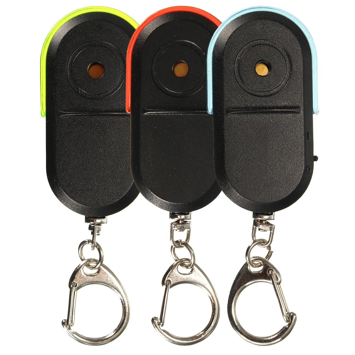 High Quality Portable Size Wireless Anti-Lost Alarm Key Finder Locator Keychain Whistle Sound LED Light Sound LED Light Locator
