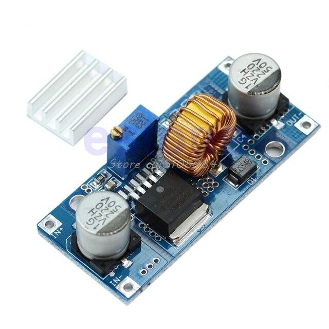 Постоянного тока в переменный ток 4 V-38 V до 1,25 V-36 V 5A Шаг вниз Питание понижающий модуль 24 V 12 V 9 V 5 V S08 Прямая поставка