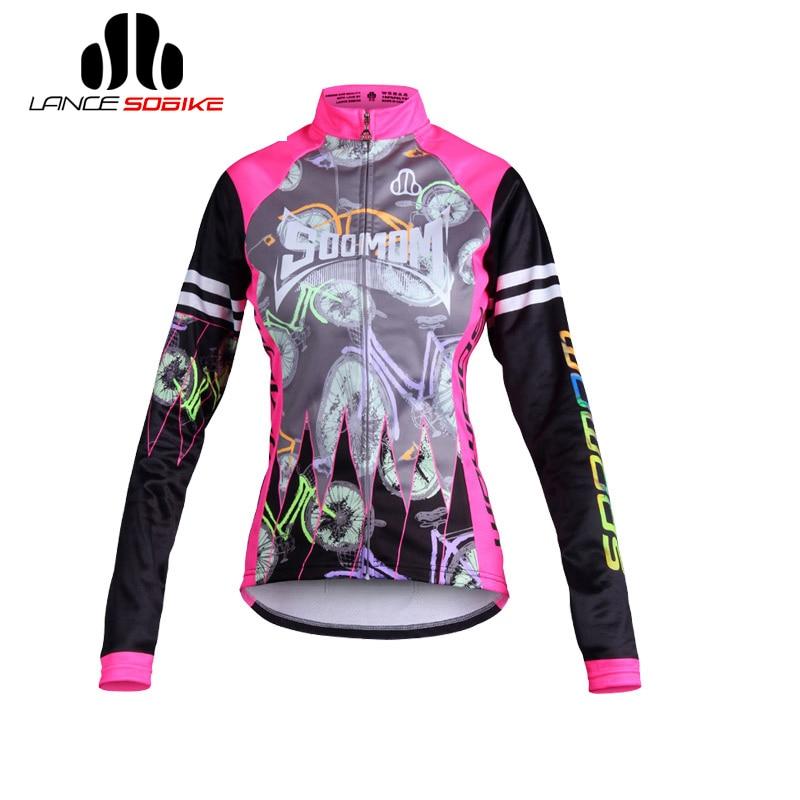 SOBIKE New Hot! Autumn Womens Cycling Thermal Jacket -Lemon Cycling Long Jersey Autumn Winter Essential Riding Bike Jacket