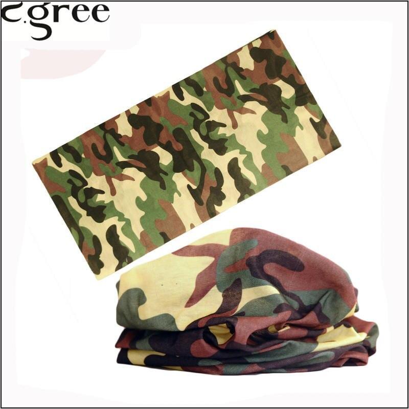 C.gree Camouflage Magic Bandana Headband Seamless Magic Tube Soft hijab Motorcycle Scarf Bandana Face Mask arabic bandanas 203