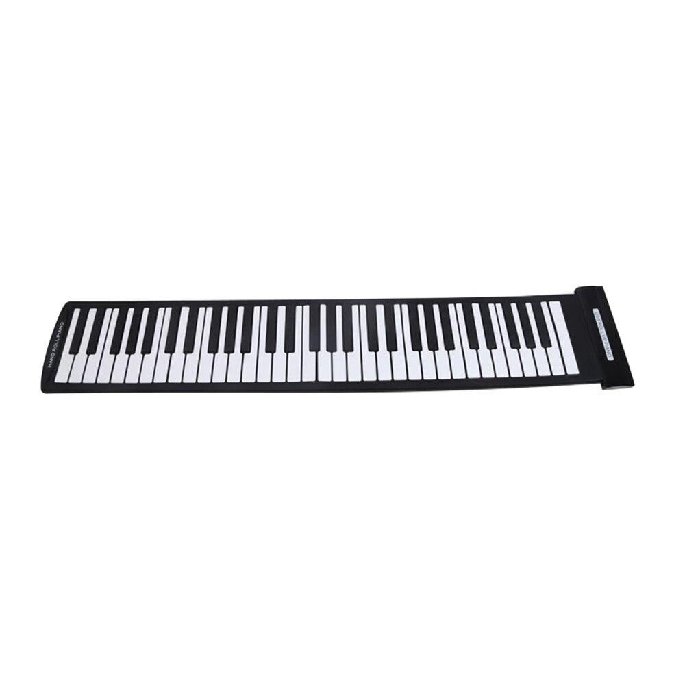 Portable 61 touches Flexible retroussable Piano USB MIDI clavier électronique main rouleau Piano