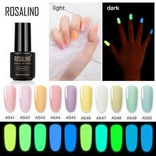 ROSALIND Neon Hybrid Varnishes Gel Nail Polish Luminous Nail Art Top Base Gel All For Manicure Gel Nail Lacquer Semi Permanent