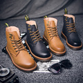 2016 Autumn and Winters Male Shoes Fashion Casual Leather Shoes England Style Genuine Leather Male Shoes Non-slip Lace Up Shoes