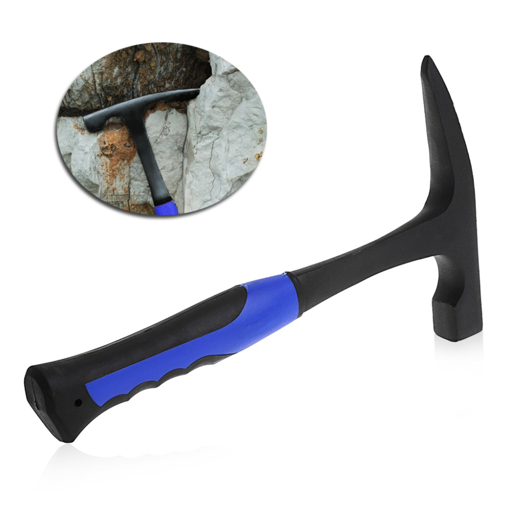 Rock Pick With Pointed Tip Shock Reduction Grip Geological Stratigraphic Exploration Hammer Hand Tools uneefull professional geological exploration hammer pointed