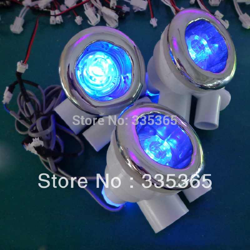 6pcs recessed waterproof RGB underwater massage tub water jet lamp led water jet light with 1pc light controller 1pc adapter
