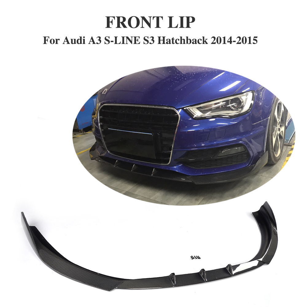 Carbon Fiber Front bumper Guard lip Chin for Audi A3 S-LINE S3 Hatchback 2014-2015 Non For A3 Sedan Car Styling