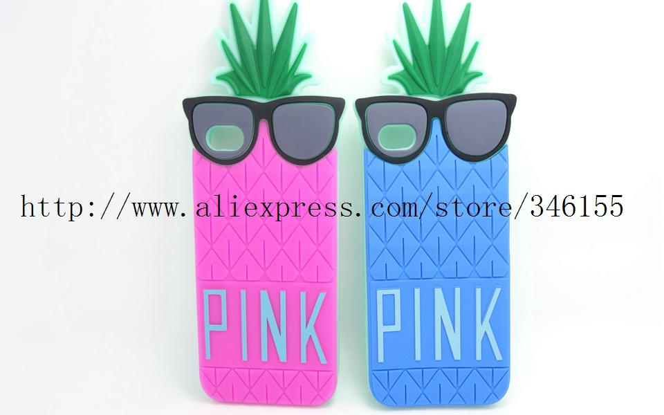 Victoria/'s secret pink 3D Glasses Pineapple Design Silicone Soft Case Apple iphone 5 5s 5g Luxe Protective Phone Covers - Shen zhen HW (3C store Digital Accessories Company)