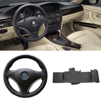 DIY Sewing on PU Leather Steering Wheel Cover Exact Fit For BMW 330i 335i E90 320i 325i