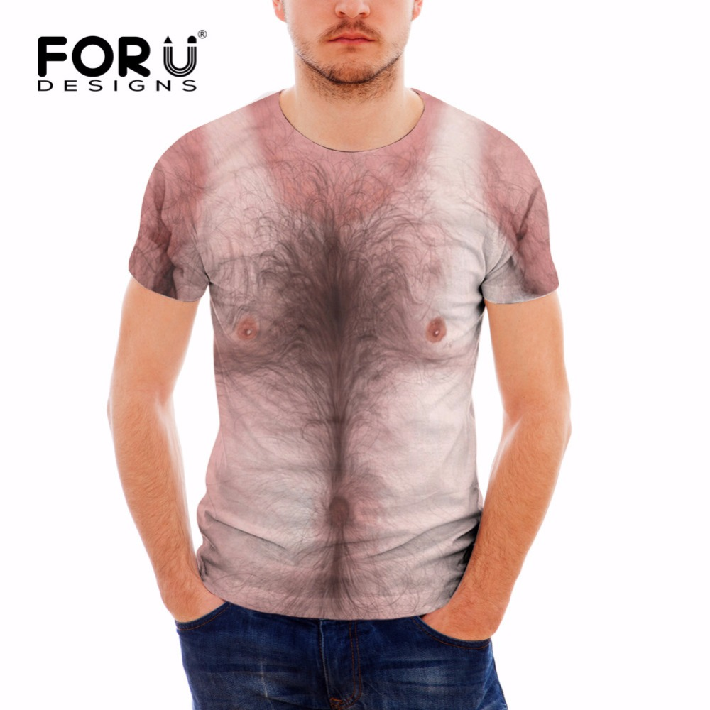 Slim T-shirt Tops T-Shirt 3D Muscle Print Tee Funny Men Male Casual Short Sleeve