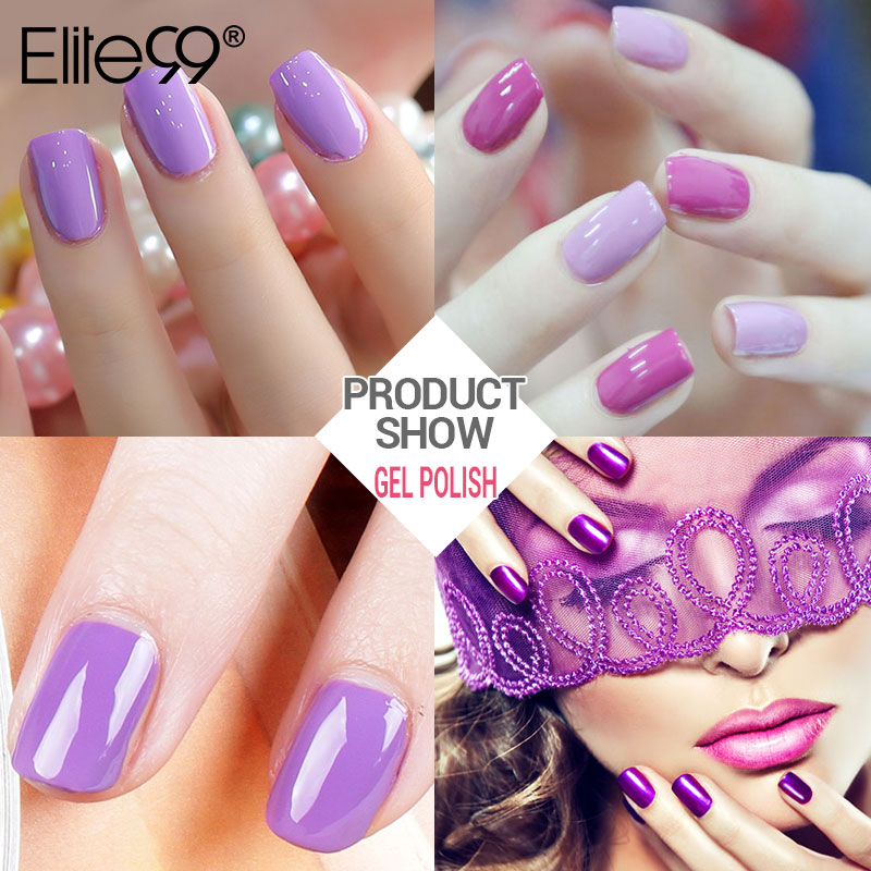 ALI shop ...  ... 32814762661 ... 3 ... Elite99 10ML Gel Nail Purple Colors Fashion UV Gel Nail Polish Soak Off Vernish Semi Permanent LED Nail Polish Lacquer Gelpolish ...