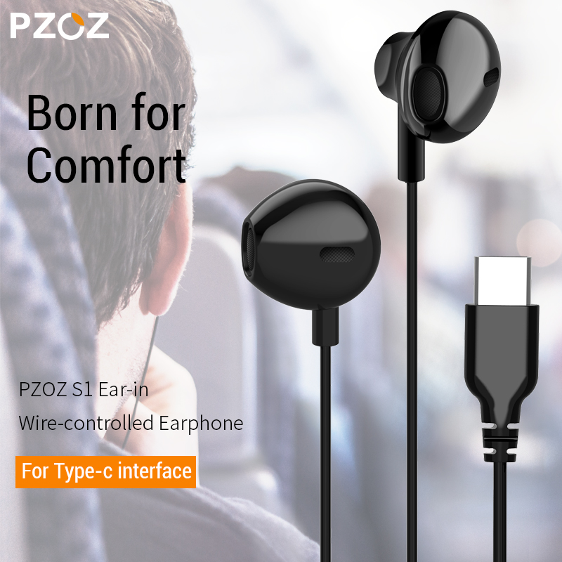 ∞Top SalePZOZ Sport Headset Earphone Type-C A2 Wired-Control-Bass Xiaomi In-Ear with Mic for Mi-Mix½