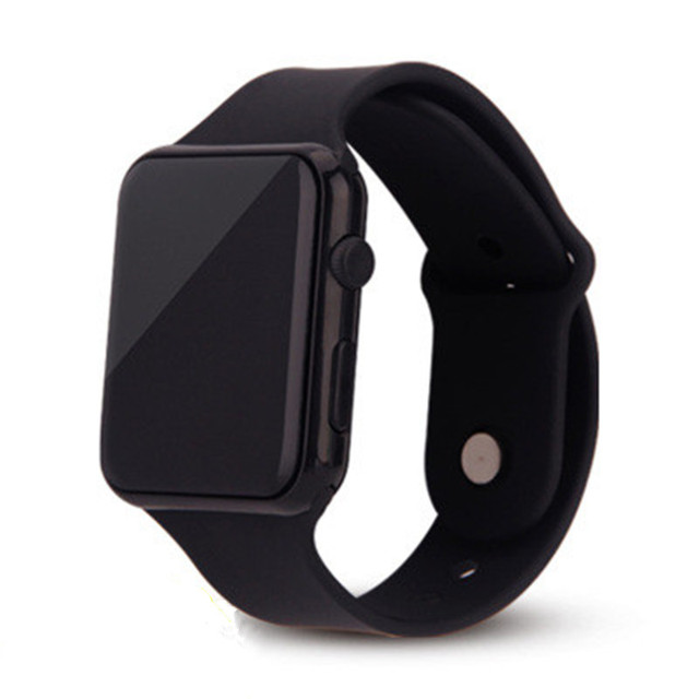 New Stylish Children Watches LED Digital Clock Silicone Watchband Square Sports Electronic Clock Dropshipping