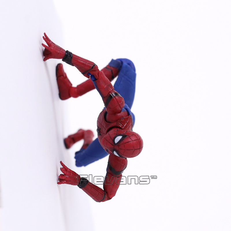 Mafex 047 Spider Man Homecoming Spiderman Pvc Action Figure Collectible Model Toy 14cm Fast Color Toys & Hobbies