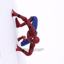 Mafex 047 homem aranha do regresso a casa spiderman pvc figura de ação collectible modelo brinquedo 14cm