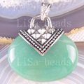 Free Shipping New without tags Fashion Jewelry 32x42MM Oval Bead Natural Green Aventurine Pendant 1Pcs RK1142