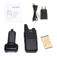 שני הדרך 2pcs WLN KD-C1 / KD-C2Walkie Talkie UHF 400-470 מגהרץ 5W כוח 16 ערוץ Kaili MINI כף יד משדר C1 שני הדרך רדיו C2 (4)