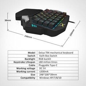 Image 5 - Delux T9X Single Handed Mechanische Gaming Toetsenborden Volledig Programmeerbare Usb Bedraad Toetsenbord Met Rgb Backlight Voor Pubg Lol E Sport