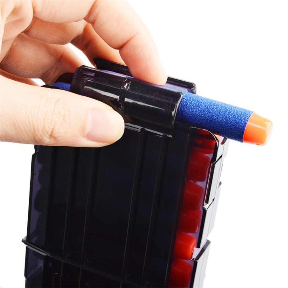12 Reload Clip Tijdschriften Ronde Darts Vervanging Plastic Tijdschriften Speelgoed Pistool Zachte Kogel Clip Voor Nerf Pistool zonder bullet