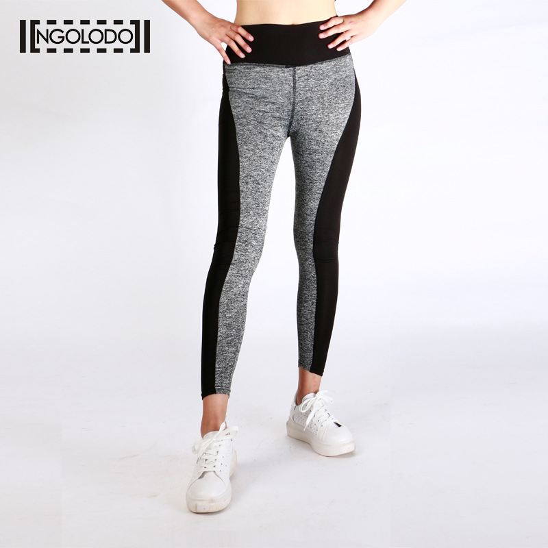 NGOLODO S-XXXL Plus Size Women Fitness Leggings Workout Black Gray Pants for Ladies High Elasticity Leggins Push Wear Trousers alfani new black women s size small s mesh back high low ribbed blouse $59 259