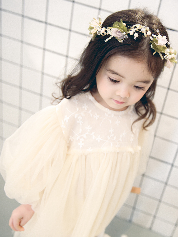 New Kids Dresses For Girls Spring Girl Child Baby Sweet Princess dress Gauze Dress
