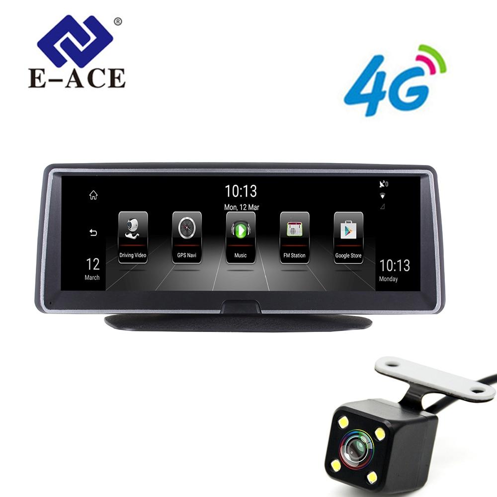 E-ACE 8 Inch 4G Android Dual Lens Car DVR GPSs