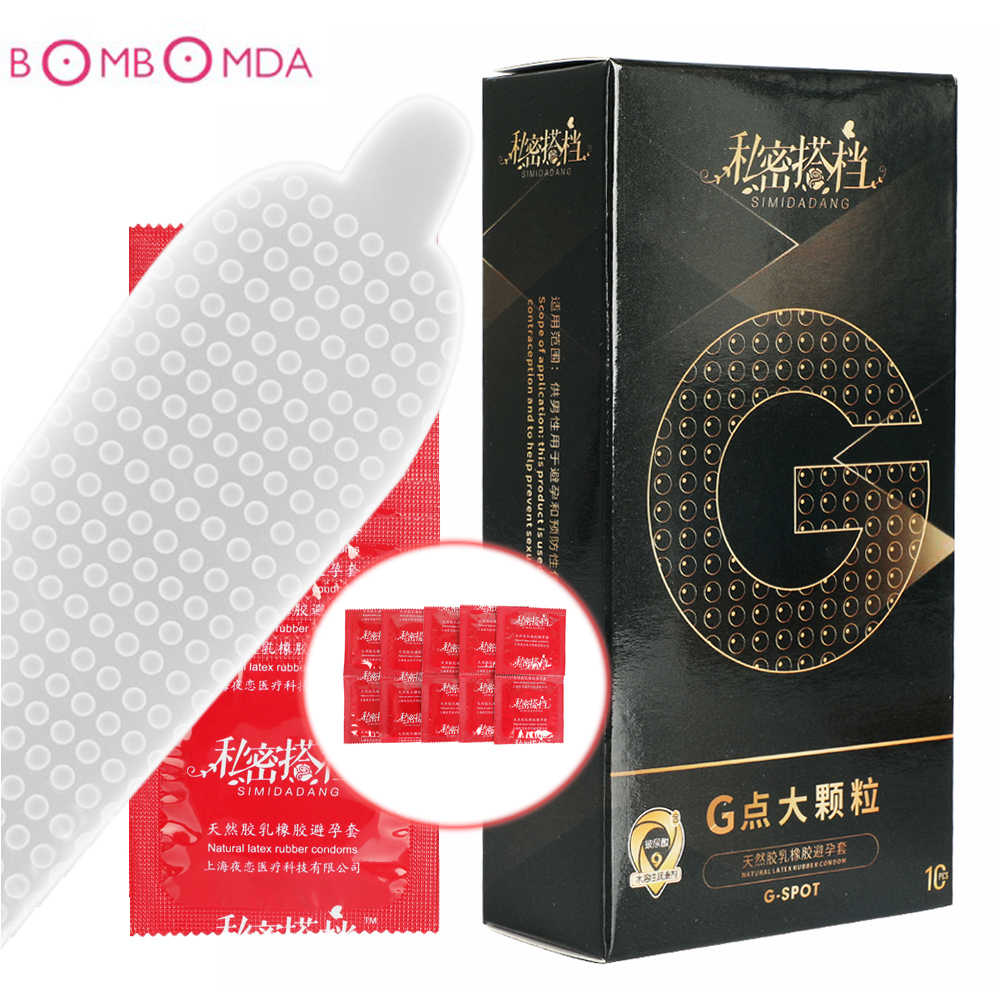 Sexy Natural Latex Dots Condoms Extra Safe Lubricated Nautural Rubber Penis Condoms for Men Sex Erotic Male Contraception Condom