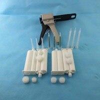 Epoxy AB Glue Manual Dispenser Gun 50ml Ratio 1 1 2 1 Versatility W Mixer Nozzles