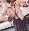 2017 Novas Mulheres Da Moda Motocicleta PU Jaquetas De Couro Outono Feminino Curto Casaco Epaulet Zippers Outwear Quente Preto Branco Amarelo