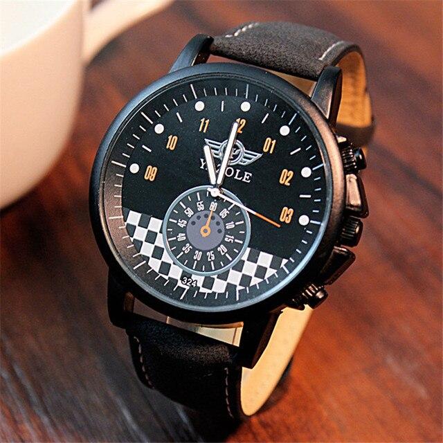 7d15fb2321e YAZOLE Quartz Watch Men Personality Unique MINI Car Dial Business Models  Large Dial Black Wristwatches Relogio Masculino YD324