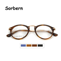 Women Designer Round Eye Glasses Frames For Men Black Eyewear Frame Glasses Optical Frames Acetate Full Rim Glasses
