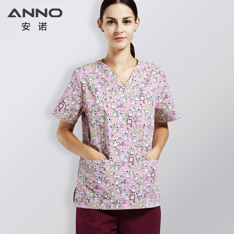 ANNO Cotton Hospital Uniforms with Cartoon Bear Healthy ...