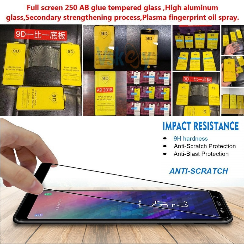 Image 2 - VSKEY 100pcs 2.5D Full Glue Tempered Glass for Xiaomi Redmi Note 8 Pro Full Cover Screen Protector Protective Film-in Phone Screen Protectors from Cellphones & Telecommunications