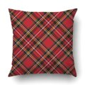 Наволочка для подушки  чехол для спальни  дивана  дома  шотландка  в клетку  в народном стиле  ретро  Рождество  Новый Год  красный  черный  зел...