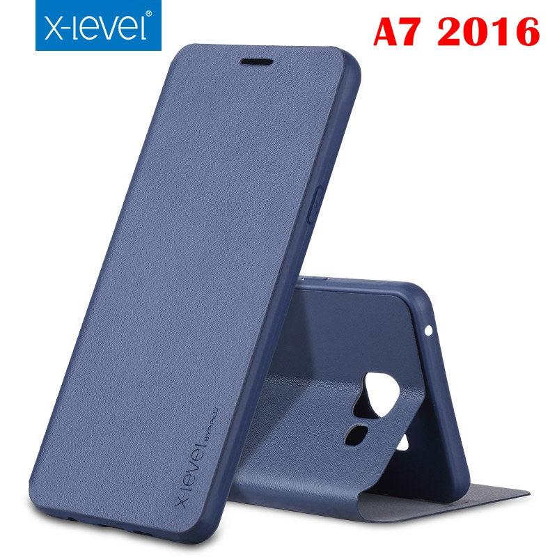 New Luxury X Level Classic Flip Leather Case For Samsung Galaxy A3 A5 A7 2016 S6