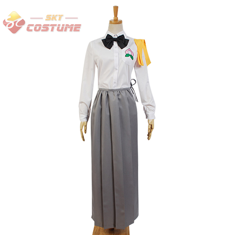 Anime Ai Tenchi Muyo!Hachiko Gown Women Uniform Shirt Dress Halloween Cosplay Costume Custom Made Any Size Full Set
