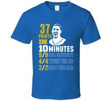 Klay Thompson 37 Points 10 Minutes Stats Breakdown T Shirt