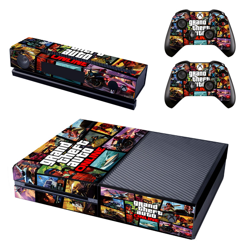 US $5 99 |Grand Theft Auto Vinyl Skin Sticker For Microsoft Xbox One  Console Kinect And 2 Controller Skins For Xboxone-in Stickers from Consumer