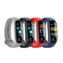 M3C Smart Watch Bracelet Heart Rate Blood Pressure Monitor Pulse Wristband M3C Fitness OLED Tracker For Iphone Xiaomi mi band 3 original xiaomi mi band 2 smart fitness bracelet watch wristband miband oled touchpad sleep monitor heart rate mi band2