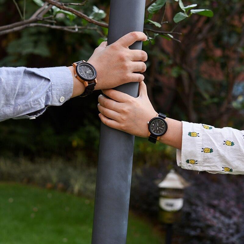 DODO DEER Couple Watches Women Mens With Week Date Creative Dial Analog Wood Quartz Wooden Watch Cool Clock Relogio Feminino B08