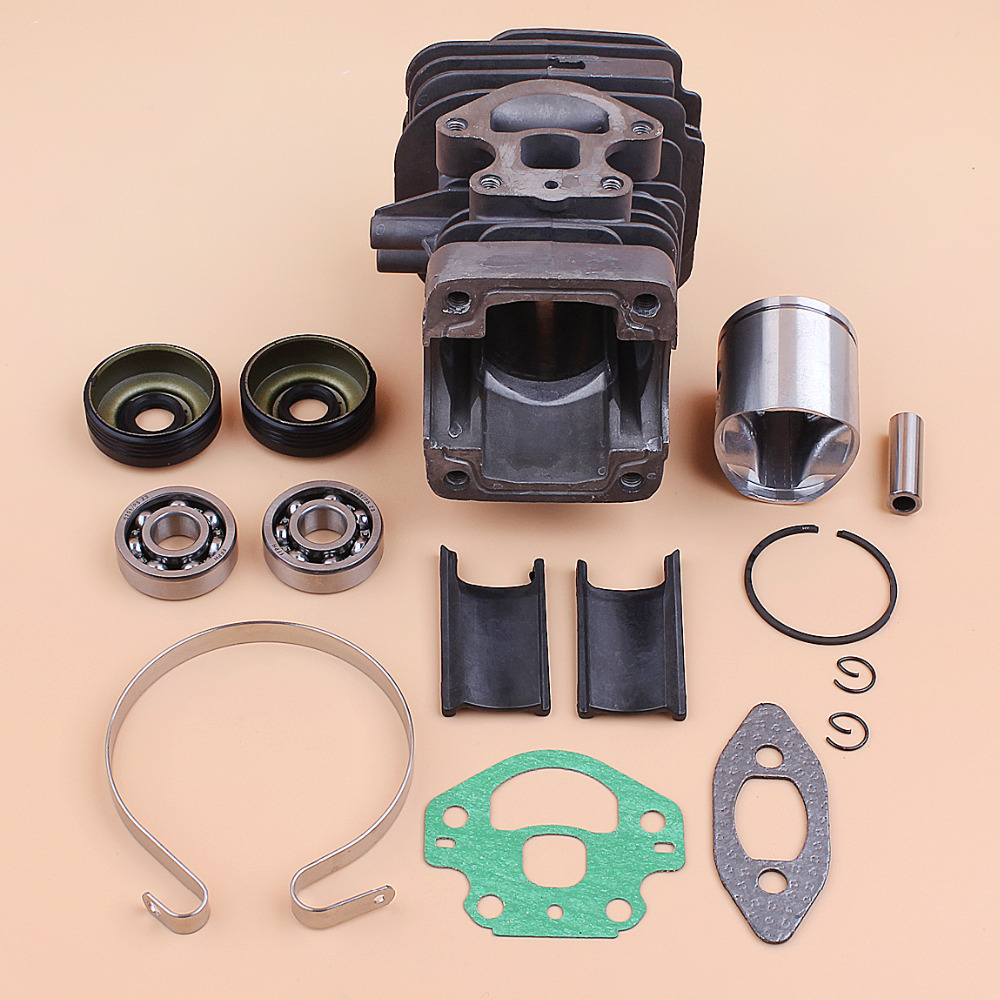 39MM Cylinder Piston Bearing Oil Seal Rebuild Kit Fit HUSQVARNA 240 236 235 236E 240E Gas Chainsaw Engine Spare Parts 545050417 in Chainsaws from Tools