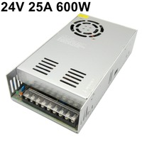 Free ship Single Output switching power supply 24V 25A 600W Transformers 110V 220V AC TO DC SMPS for LED Strip Lamp Light