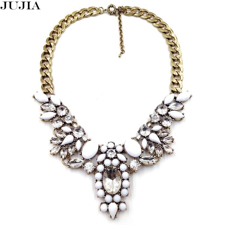 Al por mayor de la cadena chunky declaración JC gargantilla collares de  moda colgante de cristal collar 2014 mujeres Navidad regalo de lujo h1308 7825586acac