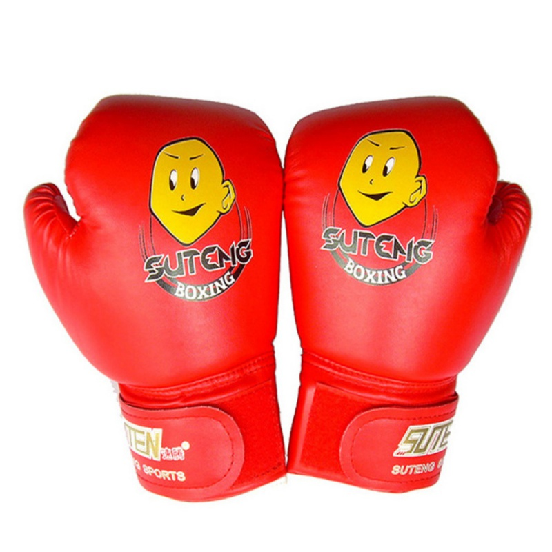 1 paar Kind Durable <font><b>Boxing</b></font> Handschuhe Cartoon Sparring Kick Kampf Sport Handschuhe Training Fäuste PU Leder image