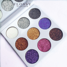 9 Colors Glitters Eyeshadow Diamond Rainbow Make Up Cosmetic Pressed Glitters Eye shadow Magnet Palette 1bag lot 0 3mm shiny glitters colored nail art glitters decorations graceful eyeshadow powder glitters cosmetic makeup tools