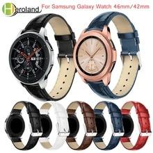 20mm watchband strap for Samsung Galaxy Watch 42mm/46mm strap band smart Bracelet leather band Wrist Replacement Crocodile Belt все цены
