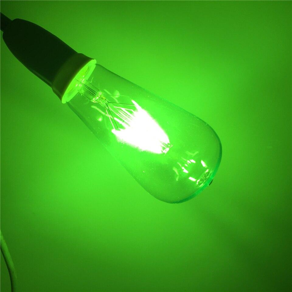 E27 LED RGB AC220V 4 W ST64 Edison ampoules Lampada verre Transparent ampoules à économie d'énergie rétro lampe à LED ampoule à Filament - 4